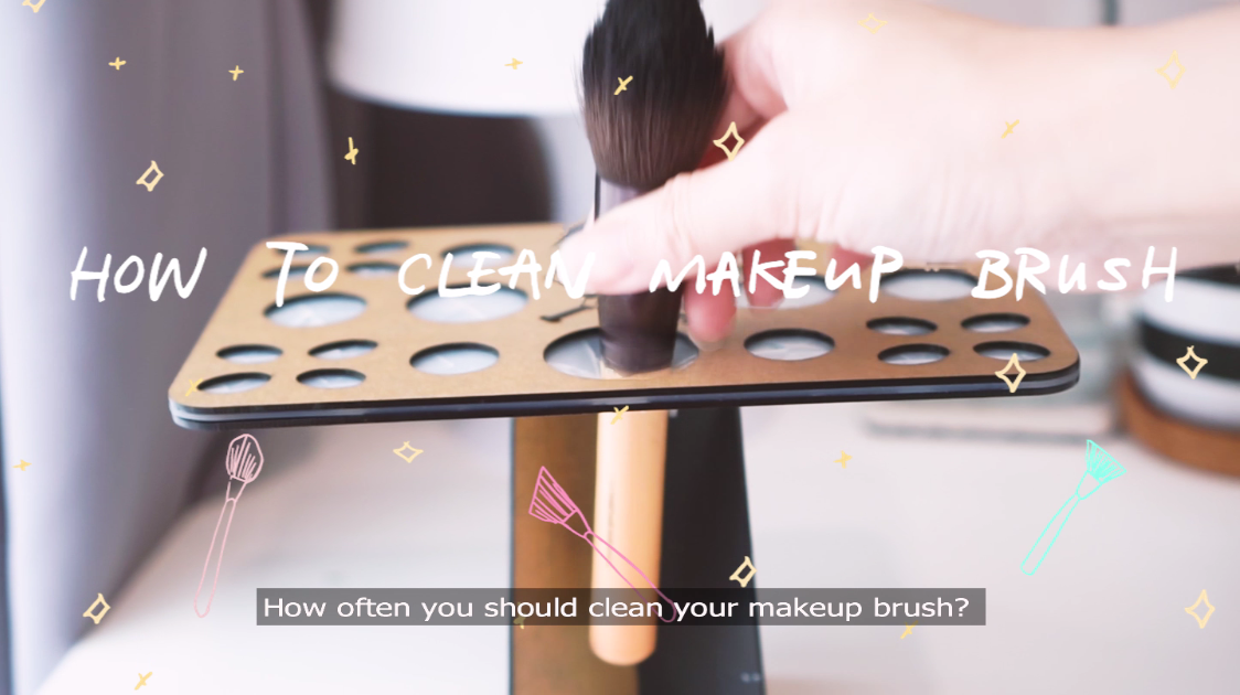 how to clean makeup brush