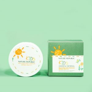 NATURE REPUBLIC - Green Derma Mild Kids Sun Cushion SPF50+ PA++++